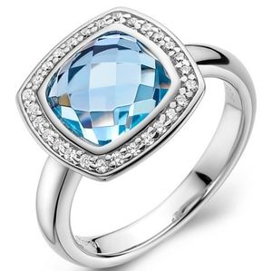 🎁NWT: Sterling & Topaz Radiant Cut Ring